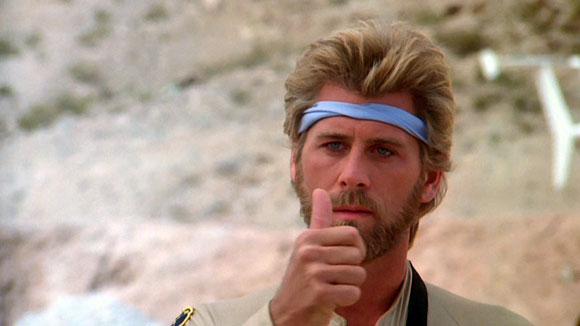 Megaforce - Barry Bostwick and his thumb